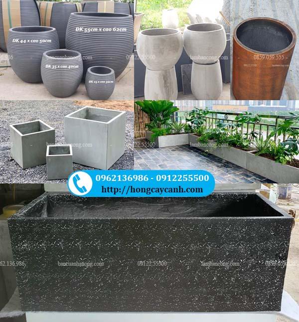 Cơ sở sản xuất và cung cấp chậu xi măng nhẹ tại Hà Nội