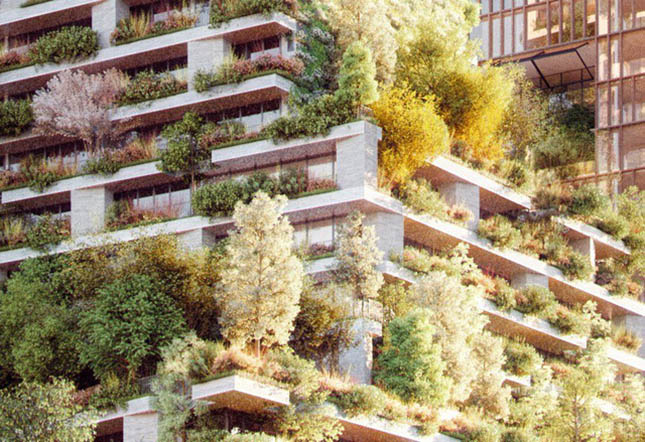 Trồng 10.000 cây xanh bao phủ tòa chung cư cao cấp