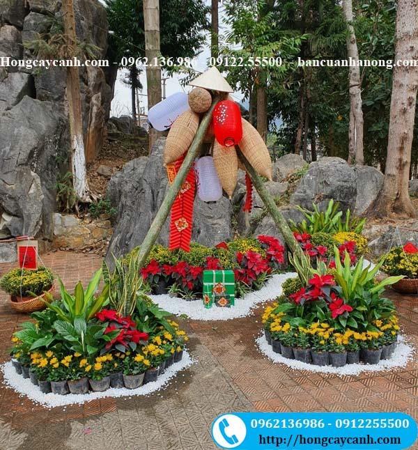 Trang trí Hội Hoa Tết tại khu du lịch Mèo Vạc, Hà Giang